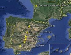 Reiseplan Karte 2014